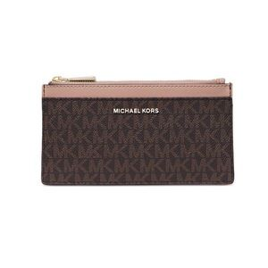 NWT! Michael Kors Signature Slim Card Case Fawn